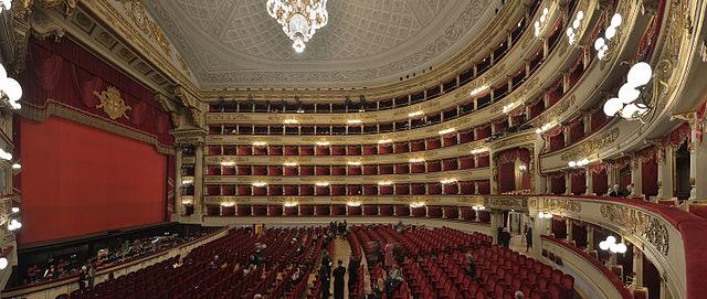 Intérieur du Musée du théâtre de la Scala