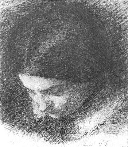 Dessin de la soeur du peintre Fantin-Latour, Musée de Grenoble.