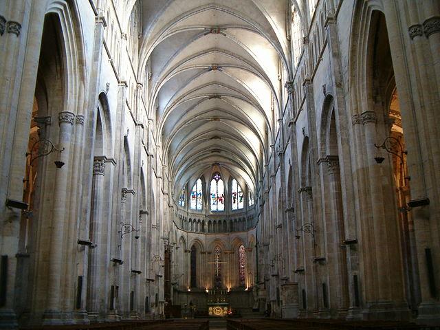 Nef de la Cathédrale Saint-Maurice de Vienne. Janvier 2007.
